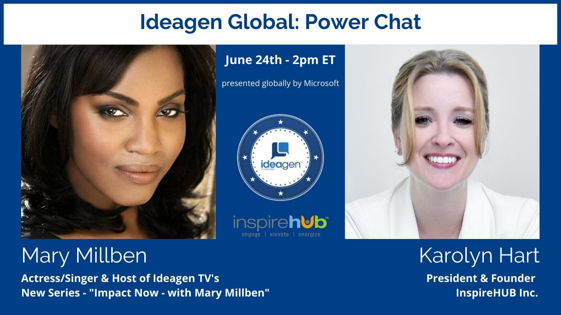 Ideagen® TV IMPACT NOW Host Mary Millben Power Chat with Karolyn Hart