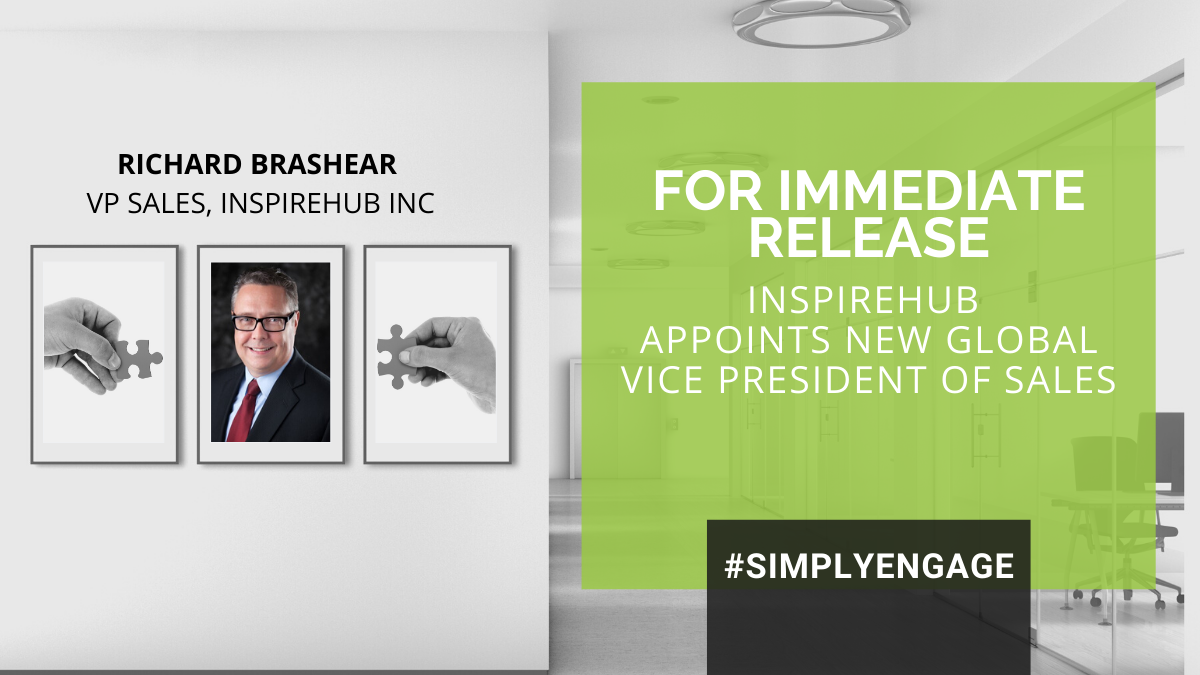 InspireHUB Hires New Global VP of Sales: Richard Brashear